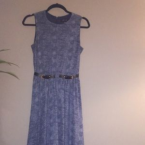 Blue Midi Belted dress from ASOS